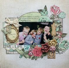 'Needle and Thread' range from Kaisercraft live-the-life Scrapbooking Layouts, Scrapbook Pages, Anna Craft, Craft Cupboard, General Crafts, The Life, Craft Items, Needle And Thread, Frame
