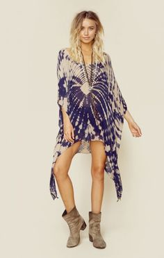 Blue Life New Bohemian Clothes V-neck Cape Cool