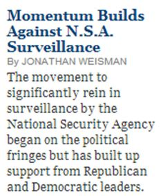 GOP Rep. Jim Sensenbrenner - a prime author of the Patriot Act back in 2001 and a long-time defender of even the most extremist War on Terror policies - has now become a leading critic of NSA overreach.