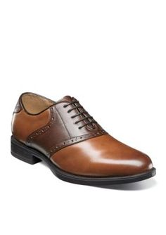 Florsheim Men's Midtown Saddle Oxfords - Cognac - 11.5M