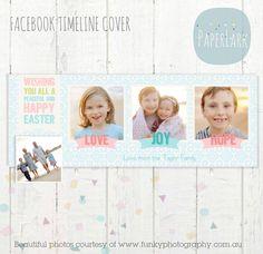Facebook timeline cover photoshop template por PaperLarkDesigns
