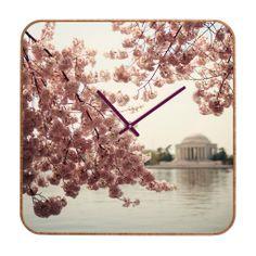 Catherine McDonald Spring In DC 2 Custom Clock | DENY Designs Home Accessories
