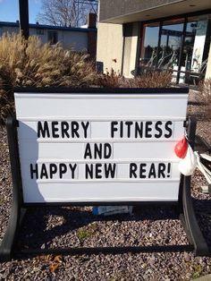 Merry Fitness & Happy New Rear