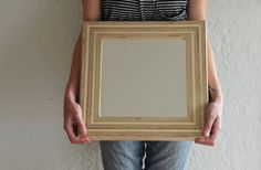 Handmade Plywood Framed Accent Mirror by Workshop Honey on Etsy.