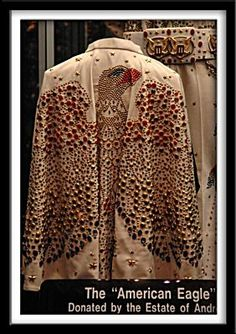 The famous cape that Elvis give to the audience was back at Graceland in the 90' now in display at Graceland.