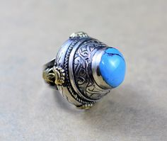 Sky blue turquoise ring,Afghan ring,Kuchi ring,Afghan jewelry,Gypsy jewelry,Hippie jewelry,Silver ring,Blue ring,FREE SHIPPING,Gift for her by ZsTribalTreasures on Etsy