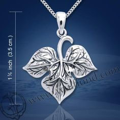 LEAF+IN+THE+WIND,+silver+pendant,+Ag+925