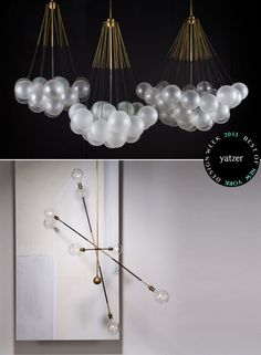 CLOUD chandelierandHIGHWIRElighting fixtures byGabriel Hendifar andJeremy AndersonfromAPPARATUSstudio.