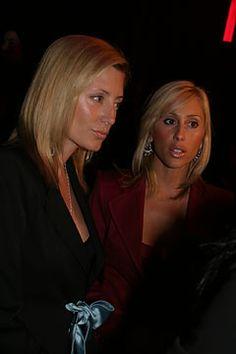 Marie Chantal of Greece and Alexandra von Furstenberg at Saint Laurent   Fall 2004