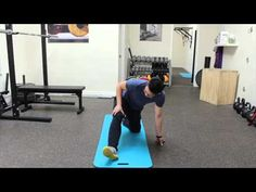 Lateral hamstring stretch/exercise for those with hip popping and impingement - YouTube