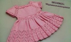 A gorgeous baby & girls dress knit seamlessly in the round from the top down. Kids Knitting Patterns, Knit Baby Dress, Evening Dresses Plus Size, Special Dresses, Crochet Baby Booties, Winter Fashion Outfits, Baby Girl Dresses, Crochet For Kids, Simple Dresses