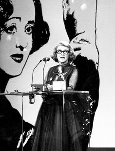 Mar 1, 1977: Bette Davis is the first woman to receive the Life Achievement Award from the American Film Institute.(AFI)