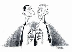 """OÖN-Karikatur vom 2. Jänner 2017: """"Neujahrstattoos"""" Mehr Karikaturen auf: http://www.nachrichten.at/nachrichten/karikatur/ (Bild: Mayerhofer)"""