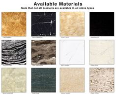 MARBLE COLORS AVAILABLE - Google Search
