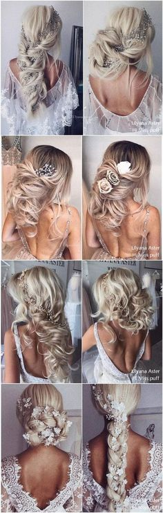 Ulyana Aster Bridal Wedding Hairstyles for Long Hair #BeautifulWeddingHairStyles #weddinghairstyles