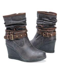 Look at this #zulilyfind! Dark Gray Nova Boot - Women #zulilyfinds