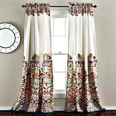 Block the sunlight which saves energy leading to better temperature regulation of the room while enhancing your decor with modern paisley patterns emphasizing the top and bottom of the curtain. Rod Po