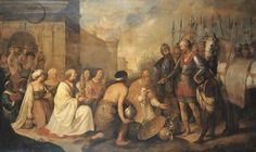 The Meeting of Pope Leo the Great and Attila - Hendrick Bloemaert