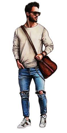 Male fashion illustration done by Denim Fashion, Fashion Art, Male Fashion, Fashion Show, Fashion Design Drawings, Fashion Sketches, Pink Butik, Man Illustration, Illustrations