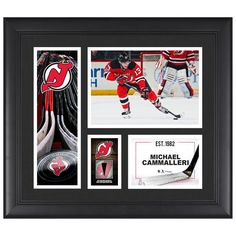 """Michael Cammalleri New Jersey Devils Fanatics Authentic Framed 15"""" x 17"""" Player Collage with a Piece of Game-Used Puck - $79.99"""