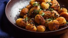 Spanish Potatoes.  Have a fiesta with these double-cooked crispy potatoes