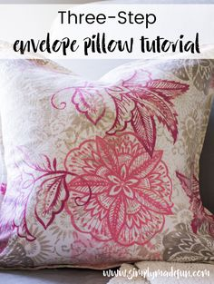 If you love simple sewing projects, you'll love how easy it is to make this envelope pillow! You only need two pieces of fabric & an hour out of your afternoon.
