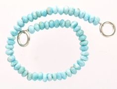 NATURAL LARIMAR Rondelle Beads . 8 strand of loose by SmartParts, $90.00