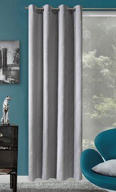 Elegantní hotové závěsy do pokoje šedé barvy
