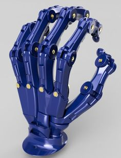 My own design for a Printed Mechanical Hand that will serve as a baseline for a bionic hand or prosthetic Mechanical Hand, Mechanical Design, Orianna League Of Legends, Robotic Prosthetics, Hand Anatomy, Arte Steampunk, Robot Hand, Arte Robot, 3d Cnc