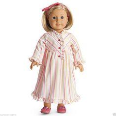American Girl Kit's Striped Nightie Nightgown PJ's NIB NRFB Doll Not Included