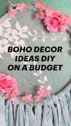 Budget Home Decorating, Diy Home Decor, Boho Diy, Boho Decor, Crafts To Make, Diy Crafts, Diy On A Budget, Diy Furniture, Decoration