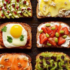 creative breakfast toasts
