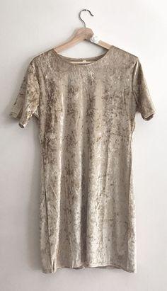 Women's Dress Velvet Gold T-shirt Style - Size Medium/Large in Clothing, Shoes, Accessories, Women's Clothing, Dresses Gold T Shirts, Dressy Dresses, Shirt Style, Tunic Tops, Velvet, Clothes For Women, Medium, Ebay, Fashion