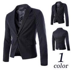Quality Men Slim Fit One Button Blazer Jacket Blazers For Men, Blazer Buttons, Blazer Jacket, Slim, My Style, Fitness, Jackets, Clothes, Collection