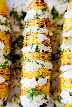Mexican Street Corn with Lime-Coconut Crema