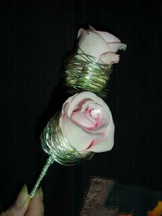 Buttonhole - rose with wire | www.claireantony.co.uk