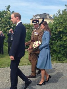 Duke and Duchess of Cambridge arrive at Arromanches during the 70th Anniversary Commemoration of D-Day, June 6, 2014.