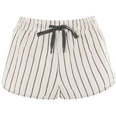 Topshop Thin Stripe Pyjama Shorts (545 UYU) ❤ liked on Polyvore featuring intimates, sleepwear, pajamas, bottoms, shorts, short, pink, cotton pjs, short pjs and pink sleepwear