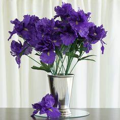 Flower Arrangements Equipment Best Of 60 Pcs Silk Iris Flowers for Wedding Bouquets Centerpieces Iris Wedding Flowers, Iris Wedding Bouquet, Fall Wedding Bouquets, Iris Flowers, Bridesmaid Bouquets, Bridal Bouquets, Purple Wedding, Wedding Vase Centerpieces, Wedding Vases