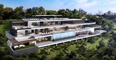 9100 CRESCENT DRIVE Located in the HOLLYWOOD HILLS/SUNSET STRIP.Designed by Ameen Ayoub, Ameen Ayoub Design Studio. Spectacular, Southern-Facing Unobstructed Jet-Liner Views from Downtown Los...