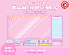 New twitch overlay now available on my Etsy shop! Super cute and perfect for any streamer looking to add a unique touch to their stream! Featuring Japanese arcade inspired aesthetics, take your stream to the next level with this full screen overlay.   Follow the link to my etsy shop for this listing and to explore my other twitch stream graphics!  #twitch #streamgraphics #cute #aesthetic #pastel #streamer #subadges #bitbadges #pastel #kawaii #pixel #art #screens #etsy #overlay #ufo #arcade  Aesthetic Themes, Aesthetic Gif, Aesthetic Pastel, Twitch Streaming Setup, Overlays Cute, Aesthetic Template, Kids Icon, Streamers, Pixel Art
