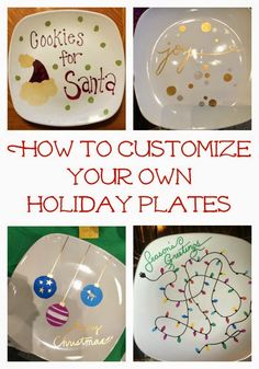 Easy DIY Holiday Craft.  Make some Sharpie Holiday Plates using these directions!  Fun gift for families and friends!