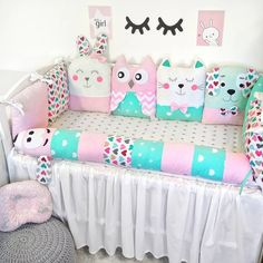 Бортики зверюшки в кроватку❤️ Crib beds, pillows for… – baby pillow bed Baby Crib Bumpers, Baby Bumper, Baby Cribs, Wooden Cribs, Diy Crib, Kit Bebe, Baby Swings, Baby Pillows, Baby Room Decor
