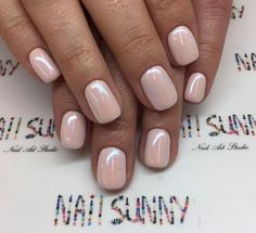 50 Trendy Nail Art Designs to Make You Shine -Understated Glossy Nude Nails For You Nail Art Designs, Colorful Nail Designs, Nails Design, Nude Nails, My Nails, Gold Nails, Coffin Nails, Manicure Y Pedicure, Trendy Nail Art