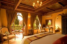 WOW, I'm sold!!!  Kasbah Tamadot is Sir Richard Branson's Moroccan retreat set in the foothills of the Atlas Mountains. Just one hour from Marrakech, the Kasbah hosts 18 individually designed rooms and suites, plus 6 Berber Tented Suites, indoor and outdoor pools, glorious gardens, a spa and hammam plus a choice of dining in chic restaurant Kanoun or the poolside terrace or rooftop.