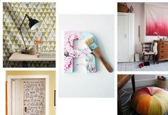 DIY Dorm Ideas | DIY Printed Tapestry , Fabric Wall Letters , Dip-Dye Tapestry , Fabric ...