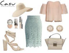 Pastelowe stylizacja na wyjątkowe okazje! Beżowe dodatki wspaniale ją uzupełniają! #pastel #outfit #ootd #spring #summer