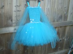 Frozen Themed Tutu. Specific instructions from my Ickle customer, she wanted a flowing look to her tutu dress.