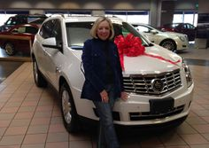 When Pat Chlouber's husband surprised her with a 2014 Cadillac SRX for her birthday, she didn't know there was another surprise coming from an OnStar Advisor.