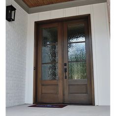 Andalucia 3-Lite 1W3H (with flemish glass) Modern Farmhouse Exterior, Modern Farmhouse Style, Craftsman Exterior, Laminated Veneer Lumber, Wood Exterior Door, Double Entry Doors, Wood Front Doors, Aluminium Doors, Internal Doors